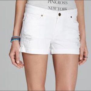 Paige Jimmy Denim White Shorts Size 25
